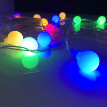 4M 40LED Colorful LED Battery Christmas Lights AA Battery Operated Fairy Ball Party Holiday Garland Flashing Bulb String Light