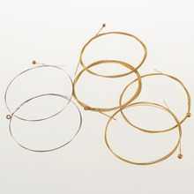 6pcs/set Acoustic Silver&Gold color Steel Guitar Strings(China)