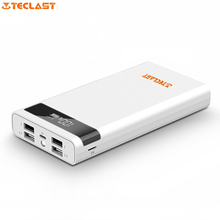 Teclast 4 USB Outport 2.1A Power Bank T200CE 20000mAh External Battery Pack Micro USB Lightning Input PowerBank(China)