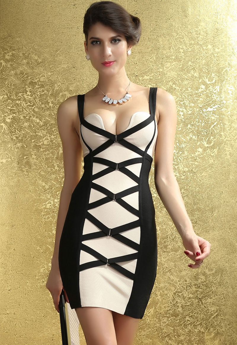 Sexy-Bodycon-Black-and-Beige-Corset-Bandage-Dress-LC28059-10952