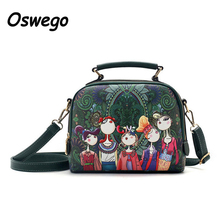 Oswego 3D Cartoon Printing Women Dual-use Bag Leisure Handbag Ladies Crossbody Messenger Bag Tote Bags La bolsa de mensajero