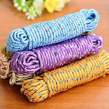 New Design 10m Colorful Multifunction Nylon Washing Clothes Line Rope Clothesline String Hangers & Racks -50(China)