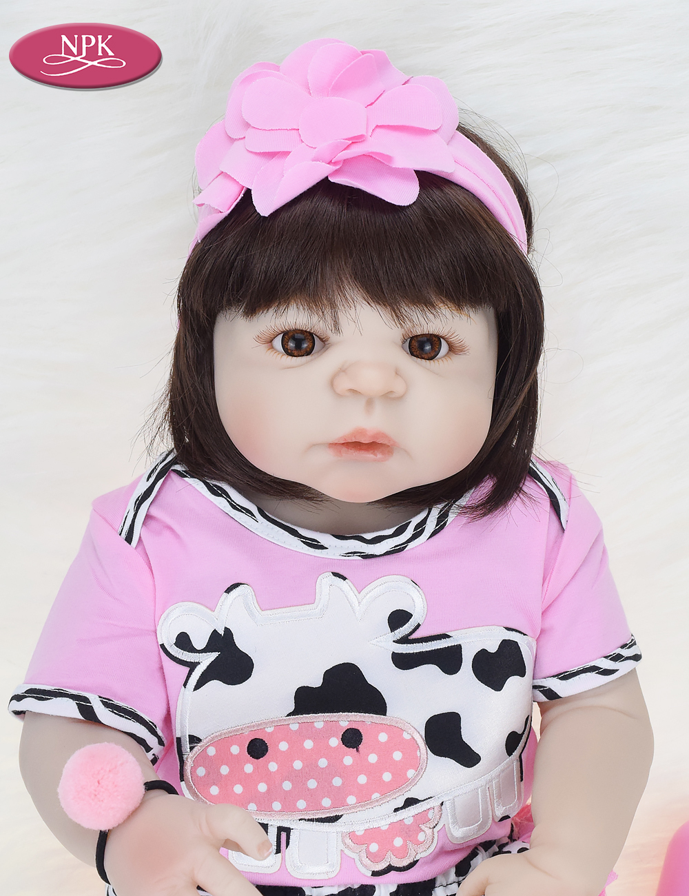 NPK Real 57CM Full Body SIlicone Girl Reborn Babies Doll Bath Toy Lifelike Newborn Princess Baby Doll Bonecas Bebe Reborn Menina (9)