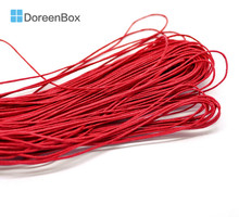 "Doreen Box Lovely 80M(3149-5/8"") Red Waxed Cotton Cord 1mm for DIY Bracelet/ Necklace Making (B18503)"