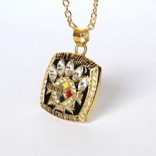 2017 Hot Selling 2005 Super Bowl Pittsburgh Steelers Championship Pendants Necklace For Men and Women fine Jewelry(China)