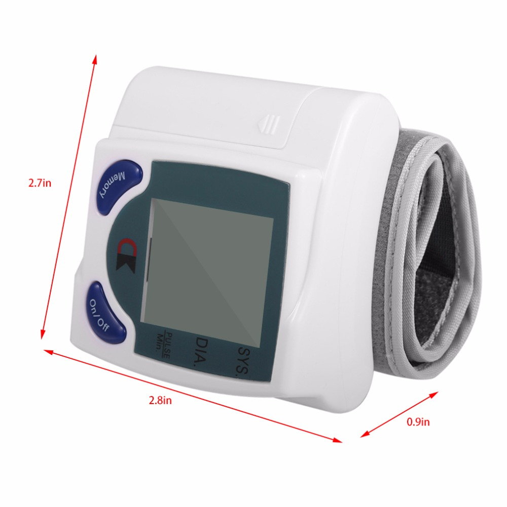 LCD Cuff Arm Wrist Blood Pressure Monitor Meter Household Health Care Healthy Heart Beat Rate Pulse Measure Machine Best Selling 11