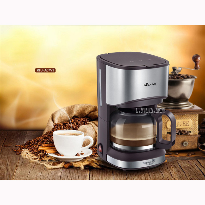 KFJ-A07V1 220V/50Hz Fully Automatic Coffee Machine 550W Coffee Machine for American Coffee Machines food grade PP material 0.7L<br>