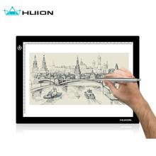 "Huion L4S 17.7"" Ultra Thin 5mm LED Light Box USB Tracing Board Pad Pencil Portable USB Interface Light Pad Active Area 12.20 x 8"