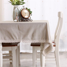 Fashion solid color linen table cloth tablecloths universal dust cover coffee table towel tablecloth picnic mat Hotsale