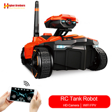 Remote Control Monitor Smart Tank Robot HD Wifi FPV 0.3MP Voiture Telecommandee Camera RC Phone App Control Car Controlled Kids(China)