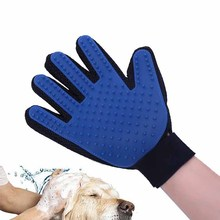 High-quality Pet Products Dog Accessories Cats Dogs Massage Glove Soft TPR Pet Bath Brush Shower Grooming Comb Right Hand Apply(China)