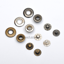 DIY 50sets/lot 4 part brass metal snap button 16mm Bubble fastener black/nickle/Bronze Jacket fastener free shipping(China)
