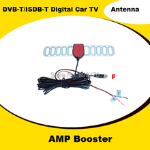 Promotion! 5M Cable DVB-T ISDB-T Digital Aerial Car TV Active Antenna with F Connector, Amplifier Booster+Free shipping