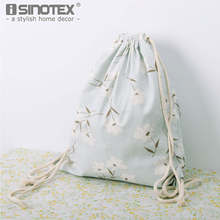 Fashion New Storage Bag Tree Floral Printed Pattern Women Canvas Drawstring Shopping Bag 1PCS/Lot(China)