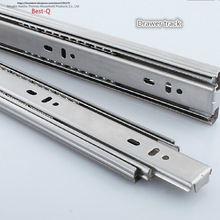Free shipping Drawer track, drawer slide, three rail drawer, guide rail, slide rail, furniture hardware fittings, slipway(China)