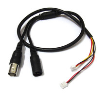 10X 60cm Power Video Cable BNC & DC Connector to Stripped Wire cctv end cable with Terminals for PCB Board CCTV Camera