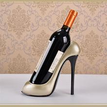 3 colors High Heel Shoe Wine Bottle Holder Wine Rack Practical Sculpture Wine Racks Home Decoration Accessories top quality(China)