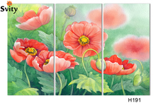 print On Canvas Abstract Corn poppy flower Oil Painting No Frame Wall Art Group Of Paintings For Room Decor