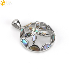 CSJA New Zealand Natural Abalone Paua Shell Pendant Charms Dragonfly Round Beads for Women Men DIY Necklaces Jewelry Making E480