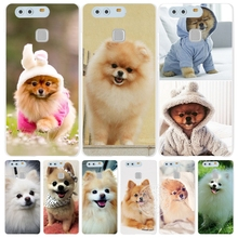 dogs perro pomeranian puppy cute Cover phone Case for huawei Ascend P7 P8 P9 P10 lite plus G8 G7 honor 5C 2017