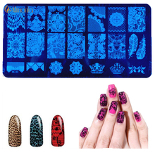 Buy 2017 New Rectangle Stainless Steel Nail Art Stamping Plate Lace Designs Nail Seal Stamp Patterns DIY Stamp Template Tool for $1.21 in AliExpress store