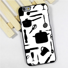Fit for iPhone 4 4s 5 5s 5c se 6 6s 7 plus ipod touch 4 5 6 back skins phone case cover Cooking Utensils Chef Kitchen