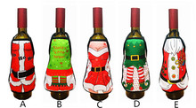 Mini Wine Bottle Apron Cover Birthday Wedding Anniversary Christmas Funny Gift Idea For Dinner BBQ Festive Holiday Decor favor(China)