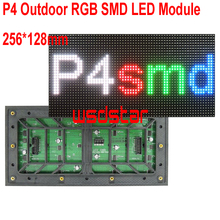 P4 Outdoor RGB SMD LED Module 256*128mm 64*32pixels for RGB LED display Scrolling message LED sign 1/8 P4 LED module 2pcs/lot