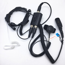 High sensitive throal control dual PTT headphone for Motorola XIR P8268 P8260 P8200 P8660 GP328D DP4400 DP4401 DP4800 DP4801 etc
