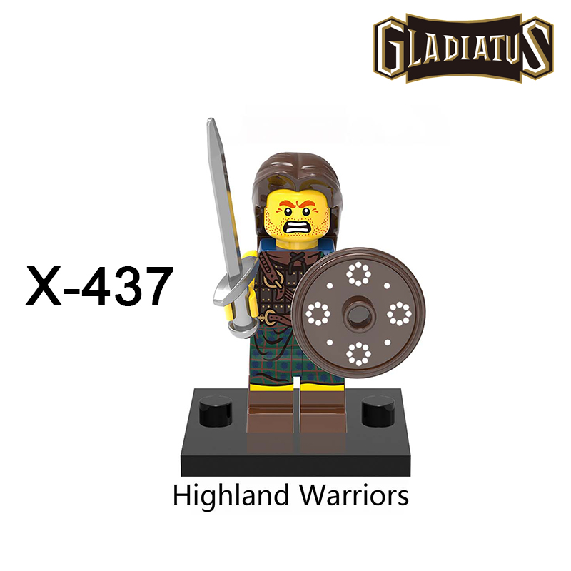 Building Blocks XH437 Highland Warriors Gladiatus Minifigures Medieval Knights Rome Starwars Superhero Set Bricks Kids DIY Toys<br><br>Aliexpress
