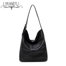 LYKANEFU European Style LargeTote Bag 2017 Luxury Women Shoulder Bags Fashion Women Bag Ladies Brand Handbag Hobo Bolsa Feminina(China)