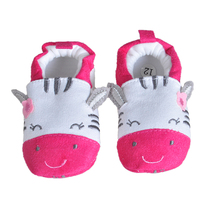 2017 Newy Style Soft Cartoon Baby Boys Girls Infant Shoes Slippers 0-6 6-12 First Walkers Cotton Skid-Proof Kids Baby Shoes(China)