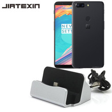 JIATEXIN Desktop Data Sync Type-C USB Cable Dock Charger Station OnePlus 5 / 5T / One Plus Five Type USB -C Charging Adapter