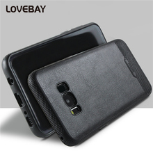 Lovebay Phone Case For Samsung Galaxy S6 S6 Edge S7 S7 Edge S8 S8 Plus Case Luxury Soft PU Leather Shockproof Phone Case Cover
