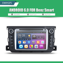 Android 6.0 QuadCore Car DVD Player Radio For Mercedes Benz SMART Bluetooth GPS wifi Navigation Steering Wheel Control EW828P6QH