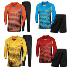 Men Football Goalkeeper Jersey Kit College Jerseys Soccer Tracksuit Goalkeeper Uniforms Clothes Suit Training Clothing Pants(China)