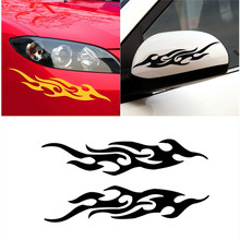 2Pcs 18cm 3D Car Styling Accessories Auto Frame Fire Emblem Rear View Mirror Sticker Funny Motorcycle Decal Vinyl Cover For Ford