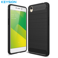 Keysion Phone Case for OPPO A37 Phone Cover Carbon Fiber Brushed TPU Fashion Mobile Phone Cover for OPPO A37