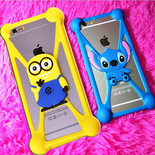RINGCALL 3D Cute Lovely Minnie Minions Stitch Soft Cellphone Moblie phone Rubber Case Back Cover For LG G2 Mini G2mini D618 D620