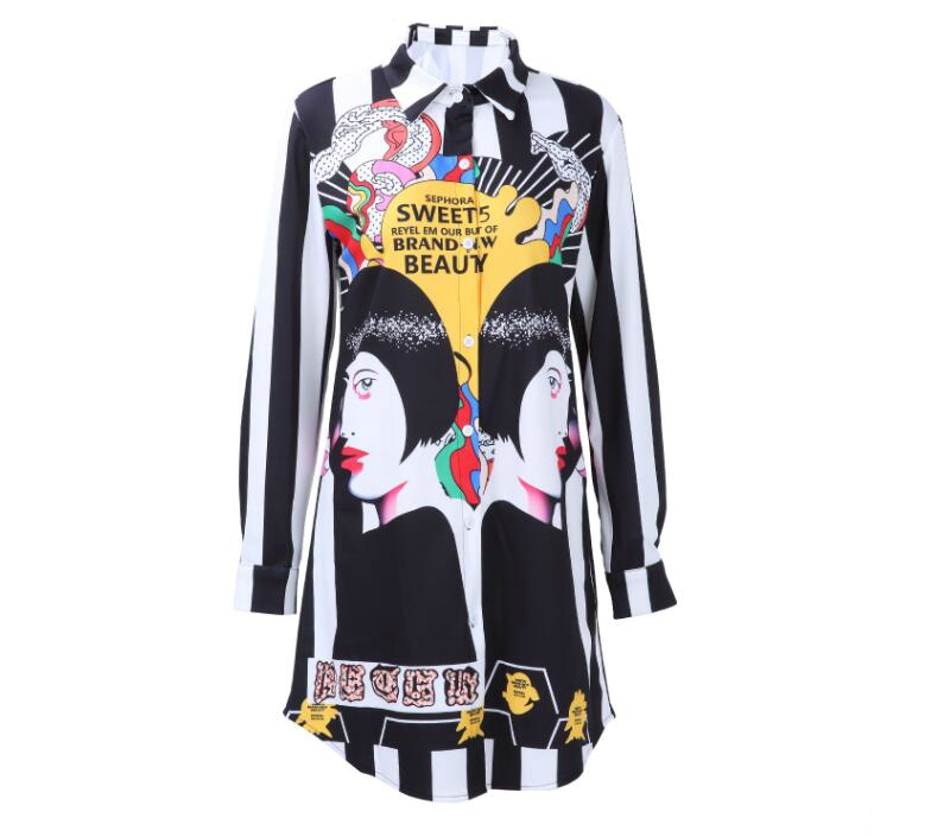 Womens Tops and Blouses 2018 Tunic Women Long Sleeve Sexy Black Plus Size Loose Flower Printed Womens Blouses 02236