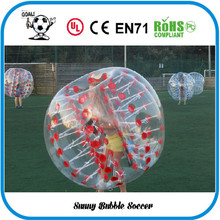 12pcs (6Red+6Blue+2Pump) Free Shipping good quality bumper ball, zorb ball ,bubble soccer suit,bubble football suit