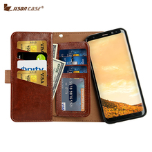 Jisoncase Phone Case for Samsung Galaxy S8 S8 Plus Case Luxury PU Leather Multi-function Wallet Magnet Cover for S8 S8 plus 3Pcs