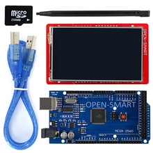 3.2 inch TFT LCD Display module Touch Screen Shield Kit onboard temperature sensor + Touch Pen / TF card /Mega2560 for Arduino(China)