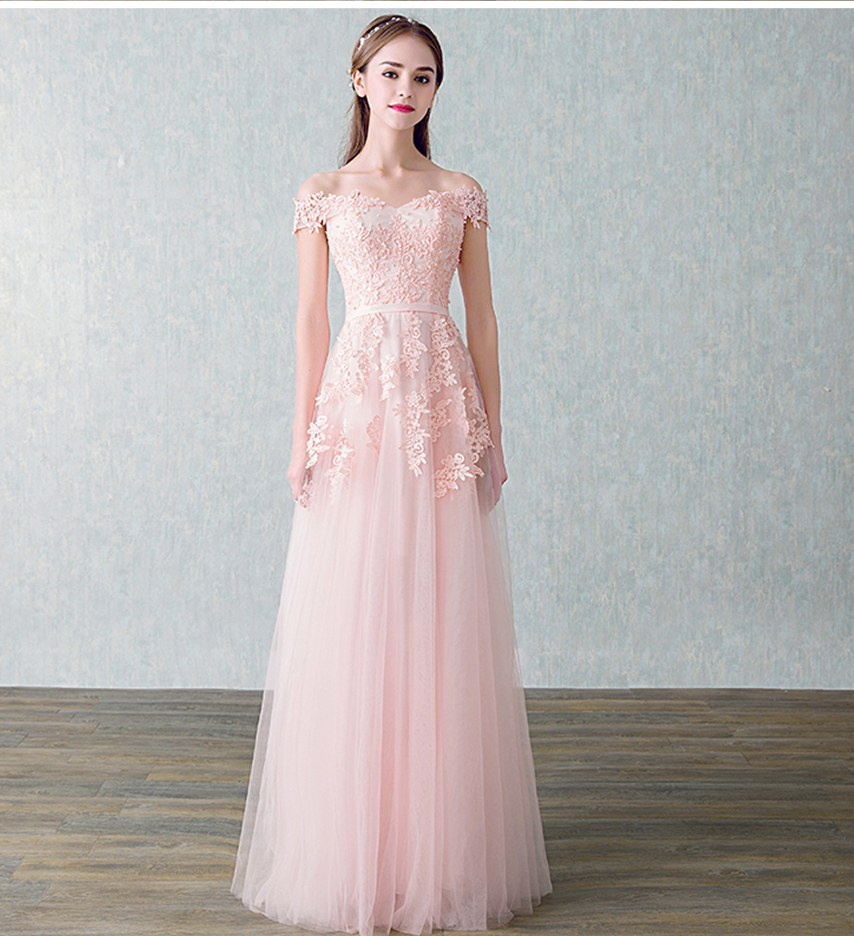 LAMYA 2018 New Arrived Women Beading Long Evening Dresses Elegant Lace Boat Neck Banquet Sexy Formal Party Gown robe de soiree 12