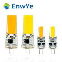 EnwYe LED G4 Lamp Bulb AC/DC 12V 220V 6W 9W COB SMD LED Lighting Lights replace Halogen Spotlight Chandelier(China)