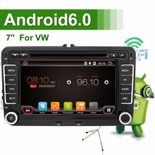 Android 6.0 Car DVD VW GPS Navigation Wifi+Bluetooth+Radio Autoradio 2 Din For Volkswagen GOLF 4 5 6 POLO PASSAT JETTA TIGUAN(China)