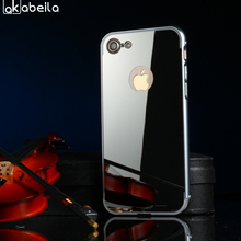 Buy AKABEILA Plating Mirror Phone Cases Cover Apple iPhone 7 7G iphone7 A1660 A1778 iPhone7G 4.7 inch Back Covers Housing Shells for $2.68 in AliExpress store