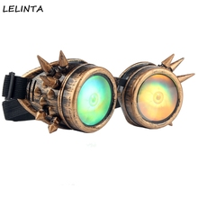 2016 New Fashion 3D Eyeball Men Vintage Style Steampunk Goggles Halloween Cosplay Welding Punk Women Gothic Glasses(China)