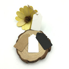 100pcs/lot White Black Brown Kraft Paper Tags DIY Lace Scallop Head Label Luggage Wedding Note Blank price Hang tag 2*4cm