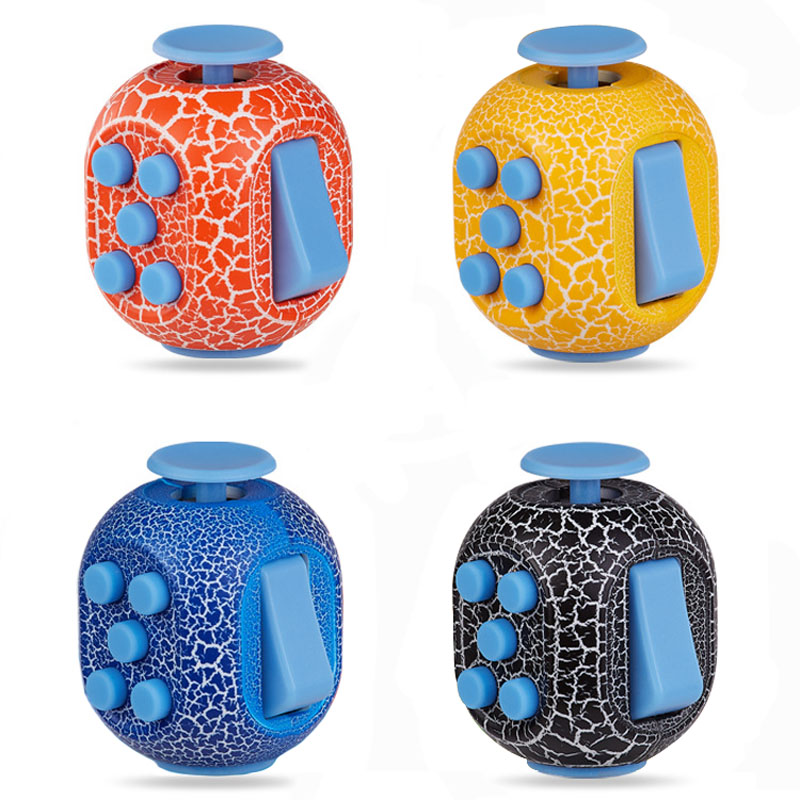 Fidget Cube Funny Squeeze Decompression Dice Stress Relief Toy Easter Egg Shaped Kids Adults Mini Cube Desktop Toys B0584